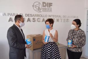 En pro de la nutrición infantil: Donativo Lebasi a DIF Aguascalientes